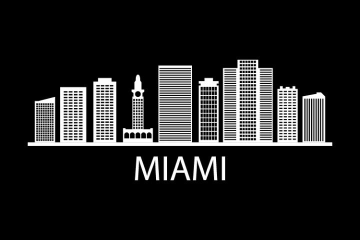Miami Skyline 241961 Illustrations Design Bundles Miami Skyline Miami Skyline