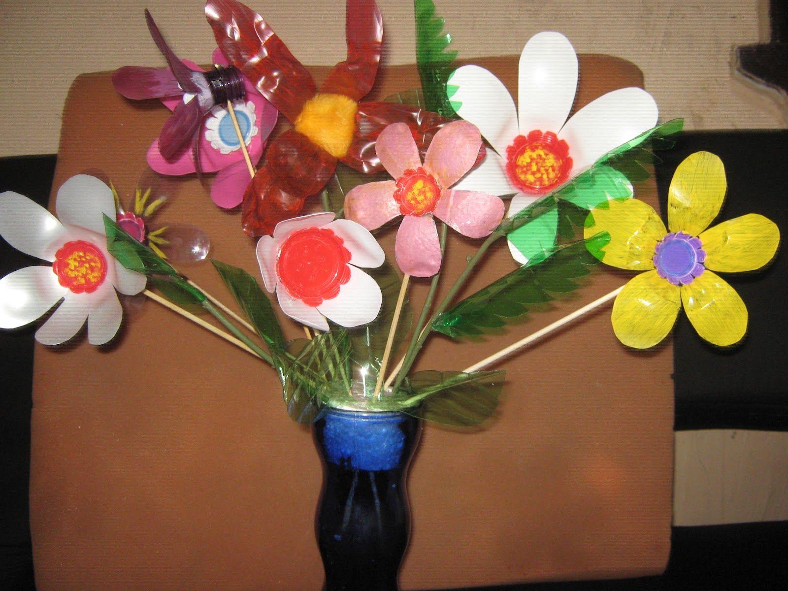 Flores con botellas de plastico google 39 da ara bah e - Flores de plastico ...