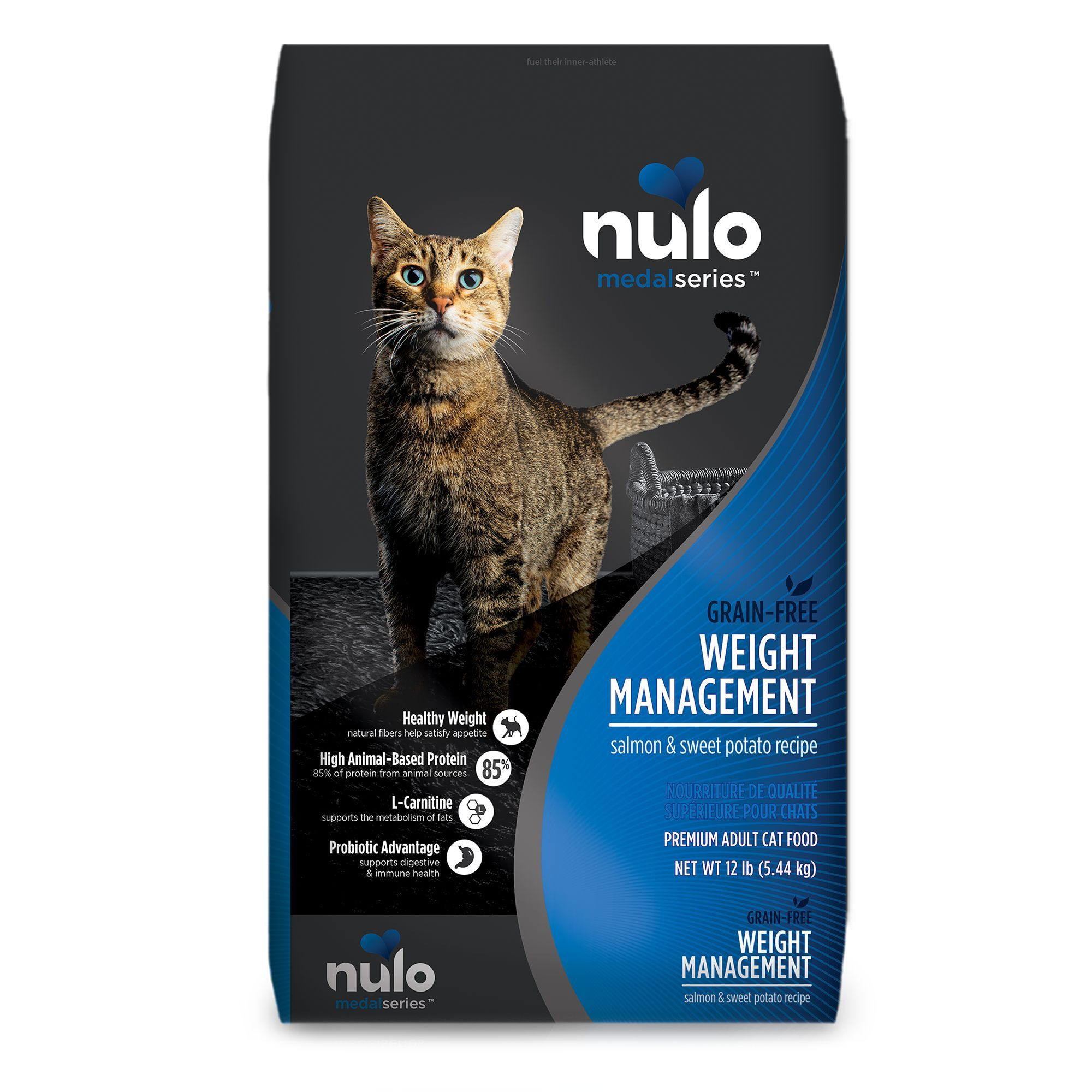 Nulo Medal Series Weight Management Cat Food Grain Free Salmon And Sweet Potato Fermentation Products Grain Foods