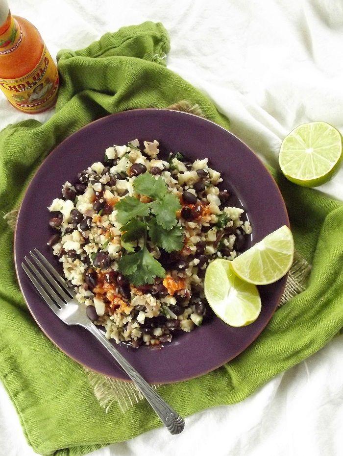 Cilantro Lime Cauliflower Rice Beans Vegetarian