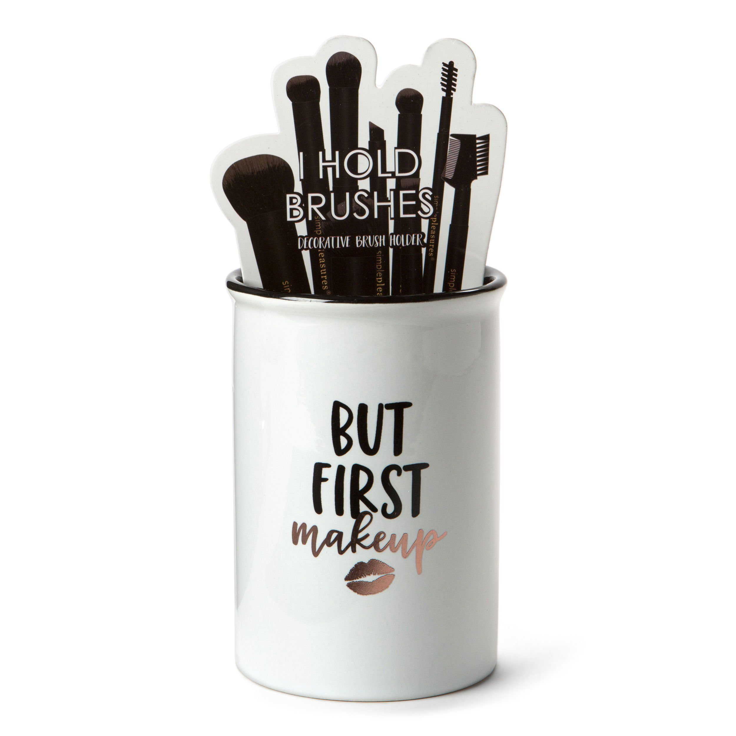 MakeUp Brush Holders (But First Make up) Ceramic brush