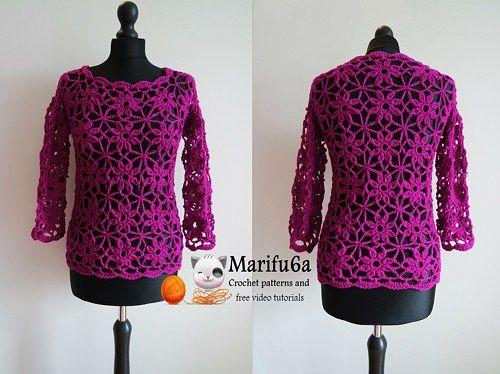 9c60b7649 Crochet easy pullover sweater pattern pdf 104 by marifu6a