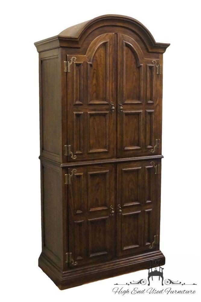 Genial Dark Wood Tone English Jacobean Original Antique Furniture | EBay.  ArmoiresClothing ...