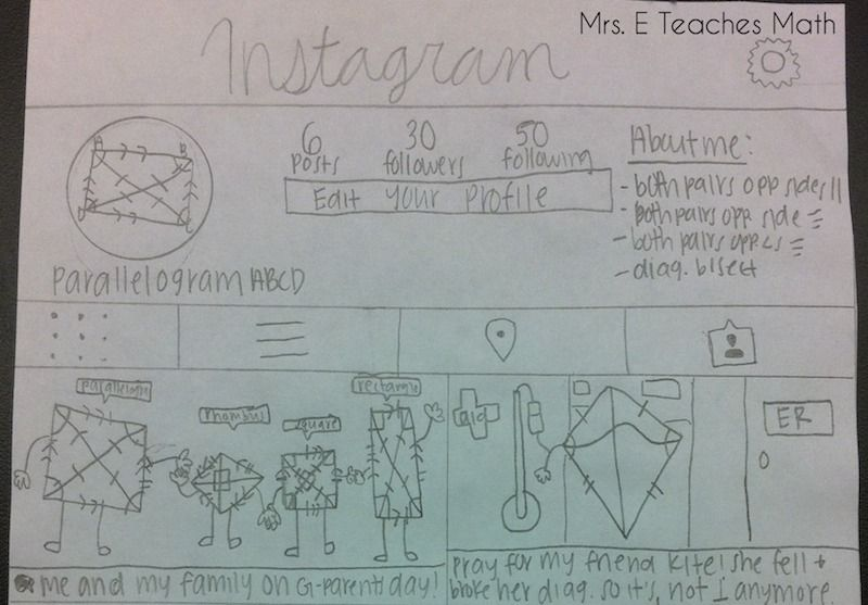 Awesome quadrilateral project students maths and school awesome quadrilateral project students created a social media page for a quadrilateral ccuart Gallery