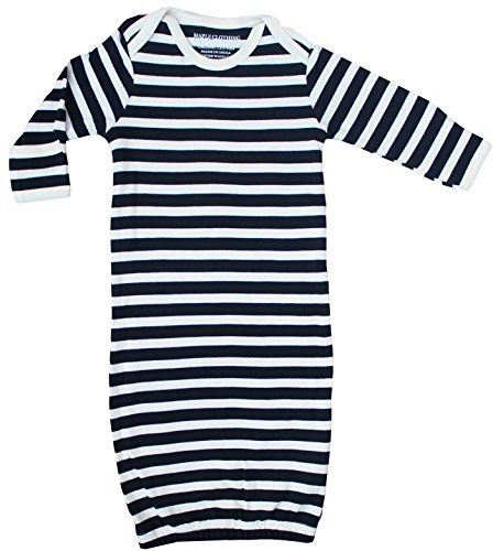 Organic Cotton Baby Clothes Sleepwear Gown GOTS Certified BlackNatural 06m >>> More info could be found at the image url.Note:It is affiliate link to Amazon.