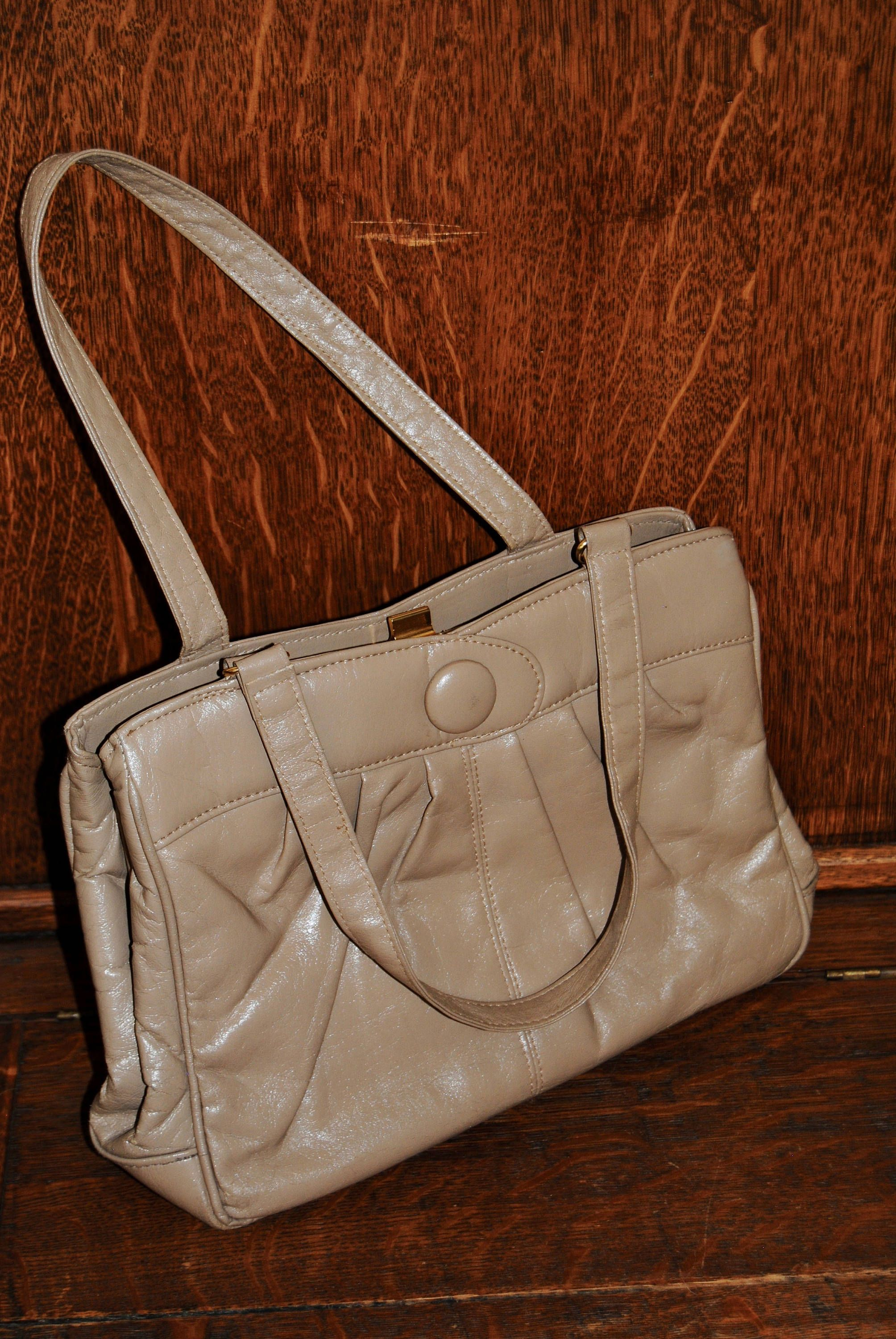 Vintage 1960 S Camel Colored Handbag By Thecheckeredpast On Etsy