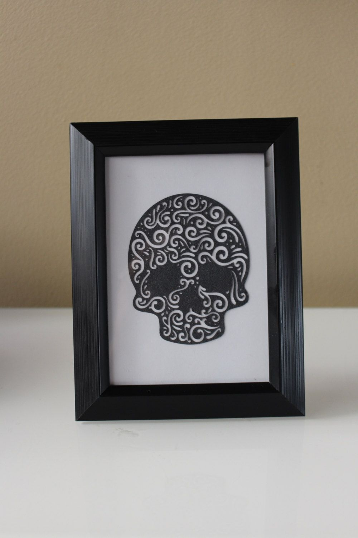 Skull, Dia De Los Muertos Picture Frame, Wall Hanging, Halloween ...