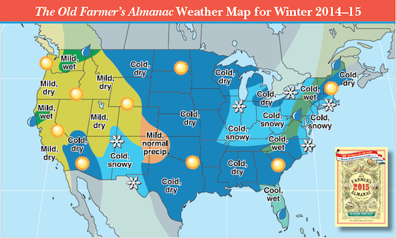 Weather Map Forecast Us 2014–2015 Winter Weather Forecast Map (U.S.) | Old farmers almanac