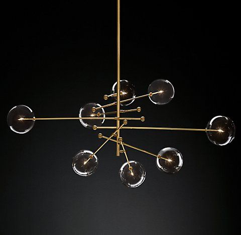 Glass Globe Mobile Chandelier Dimensions Overall X Minimum Height Maximum Canopy Diam Rods One Globes Each Weight 34 Lbs