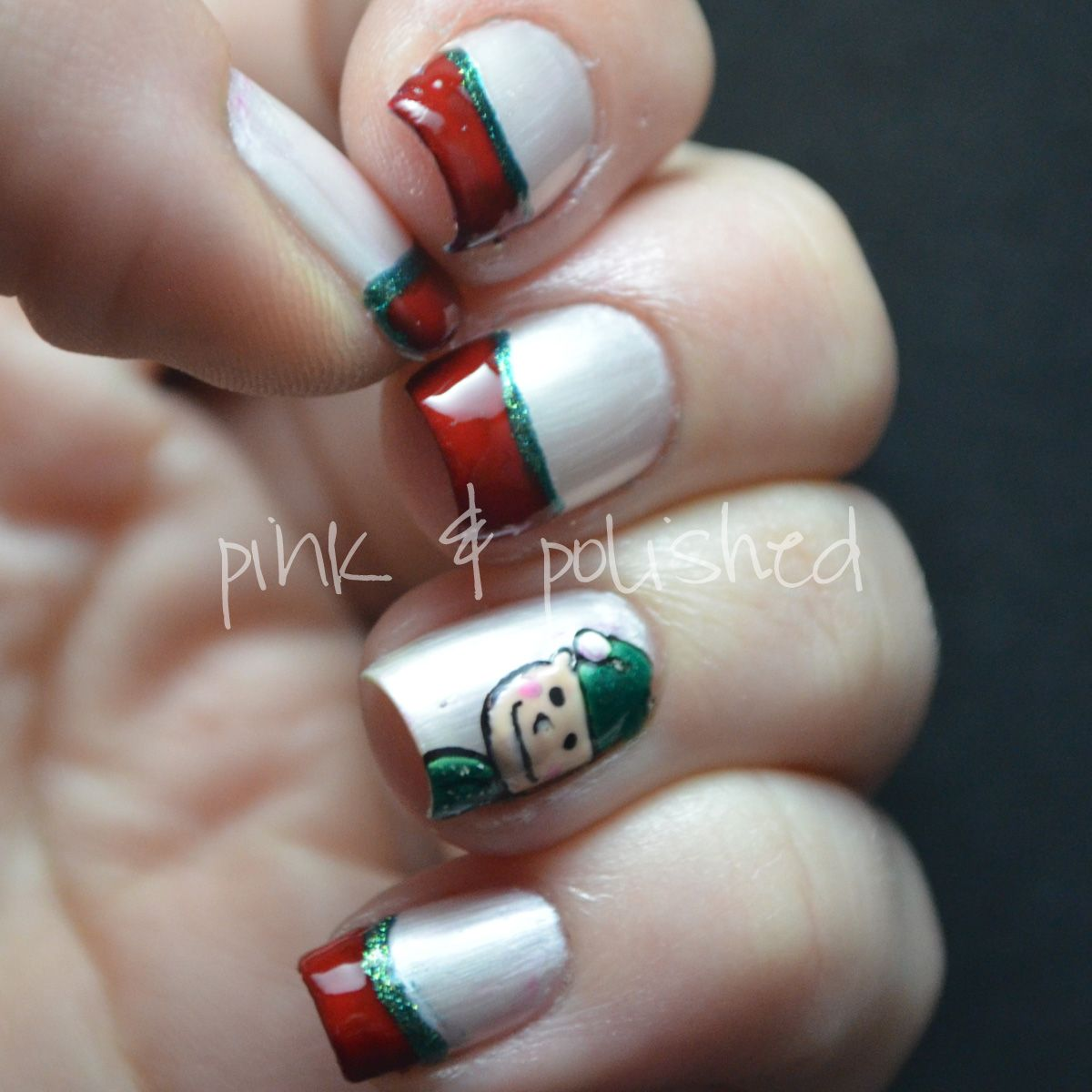 Christmas Nails Elf: Christmas Elf #nail #nails #nailart