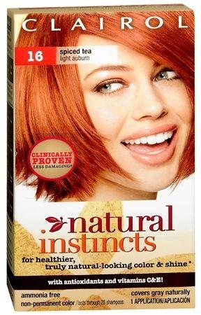 Clairol Natural Instincts Non Permanent Hair Color Spiced Tea Light Auburn Nice Temporary Clairol Natural Instincts Clairol Natural Non Permanent Hair Color