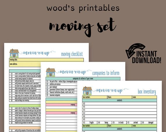 Moving Planner Set Moving Checklist Moving Away New Home Planner Kit