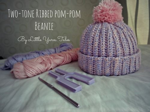 Pattern: Customizable Two-Tone Ribbed Pom Pom Beanie | Mütze