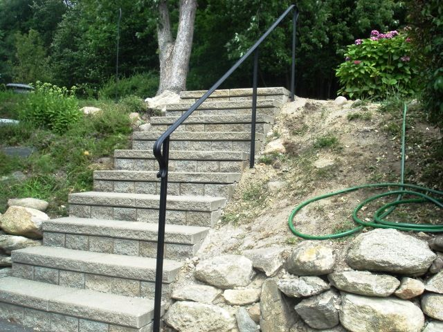Basic wrought iron handrail wrought iron railings - Metal railings for stairs exterior ...