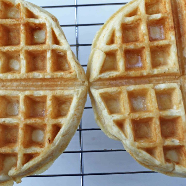 One Bowl Easy Buttermilk Waffles Quick Waffle Recipe Which Creates Chewy Crispy And Buttery Waffles The Perfe Buttermilk Waffles Easy Waffle Recipe Waffles