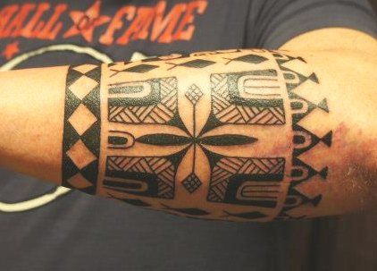 Polynesian armband tattoos for men second and last for Polynesian tattoo armband designs