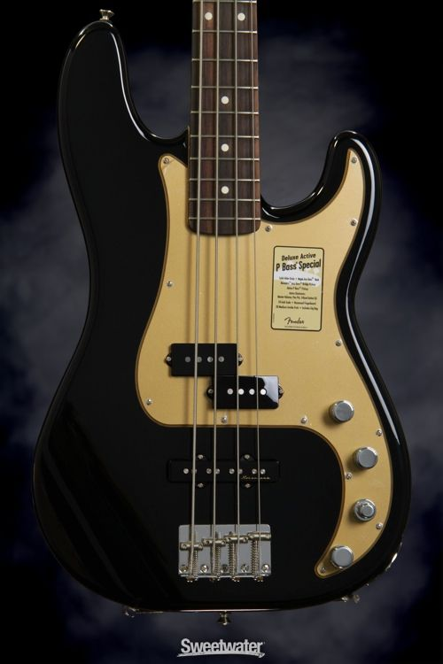 fender deluxe active p bass special black bass in 2019 pinterest bass fender bass and. Black Bedroom Furniture Sets. Home Design Ideas
