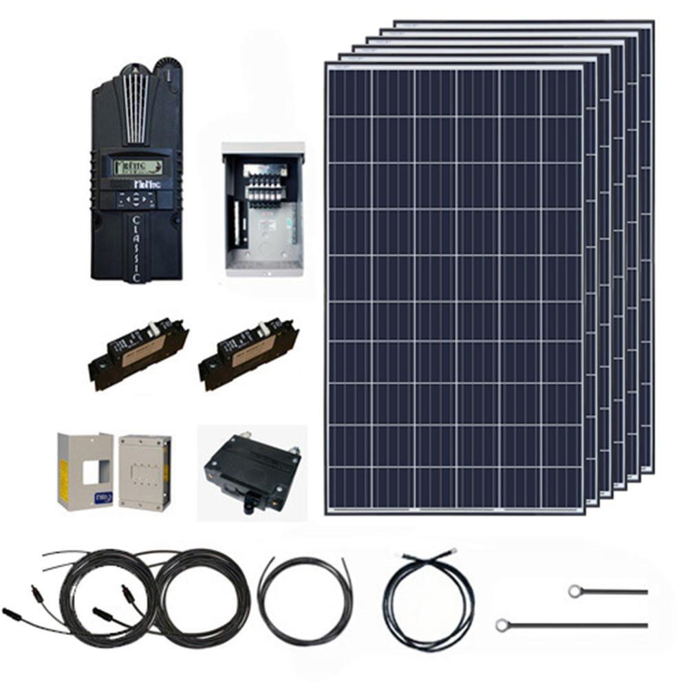Renogy 1600 Watt 24 Volt Polycrystalline Off Grid Solar System Solar Cabin Kit Cabin1600pnone Solar System Kit Off Grid Solar Panels Off Grid Solar