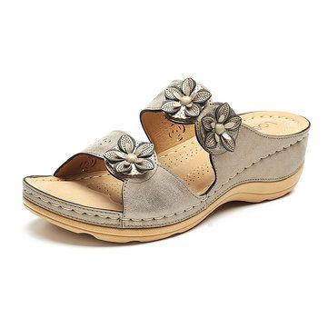 354289fb6b15c9 Lostisy LOSTISY Couture artisanale Sandales à talon ouvert parfait pour  vous - Newchic Mobile