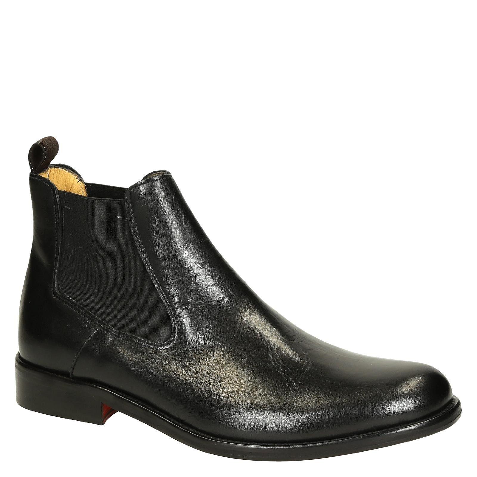 Black Lux Calf Leather Men S Chelsea Boots Handmade Italian Boutique