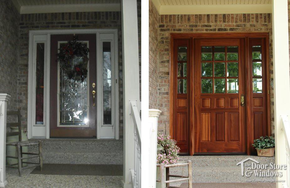 Before And After Gallery Door Store And Windows They Call Me Dora Store Door Doors Windows