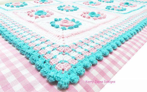 CROCHET PATTERN Halo Heart Crochet Blanket Pattern Baby crochet ...