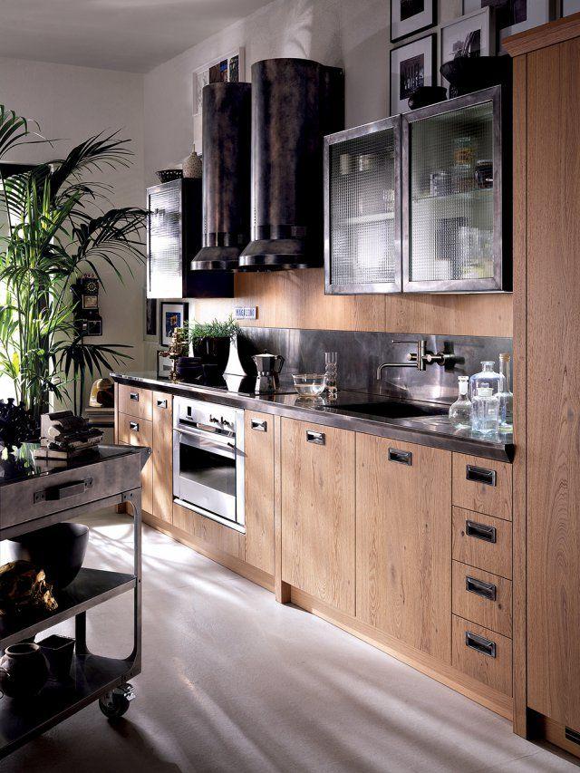Cuisine Les Plus Beaux Modeles Selectionnes Chez Les Cuisinistes Design Industriel Cuisine Cuisine Moderne Meuble Haut Cuisine