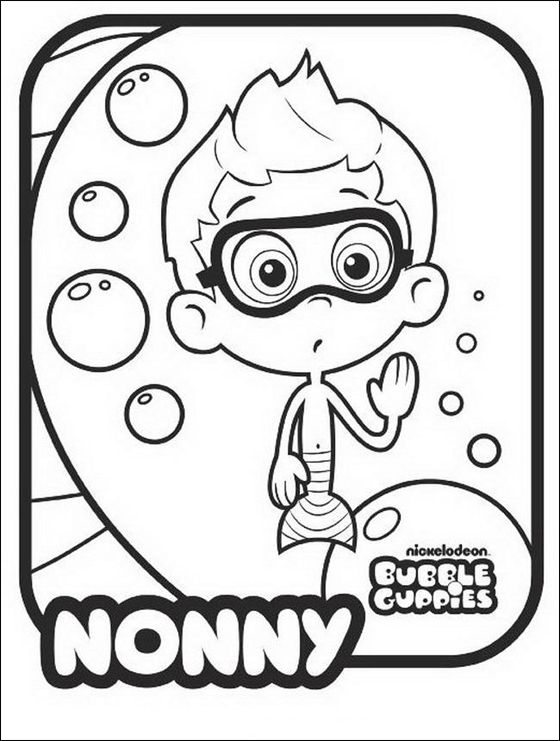 Nonny coloring page | Bubble Guppies Coloring Pages | Pinterest ...