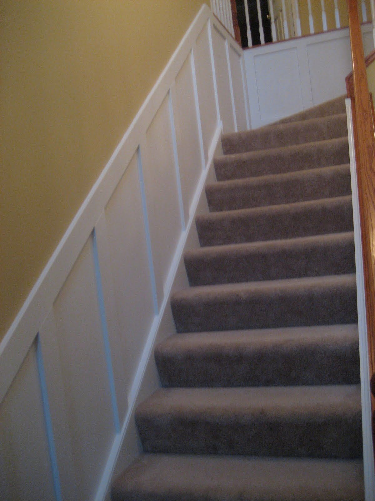 Remodelaholic Wainscoting Central Guest Party Highlight Picture Frame Molding Wainscoting Stairs Trim