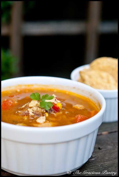 Clean Eating Chicken Fajita Soup