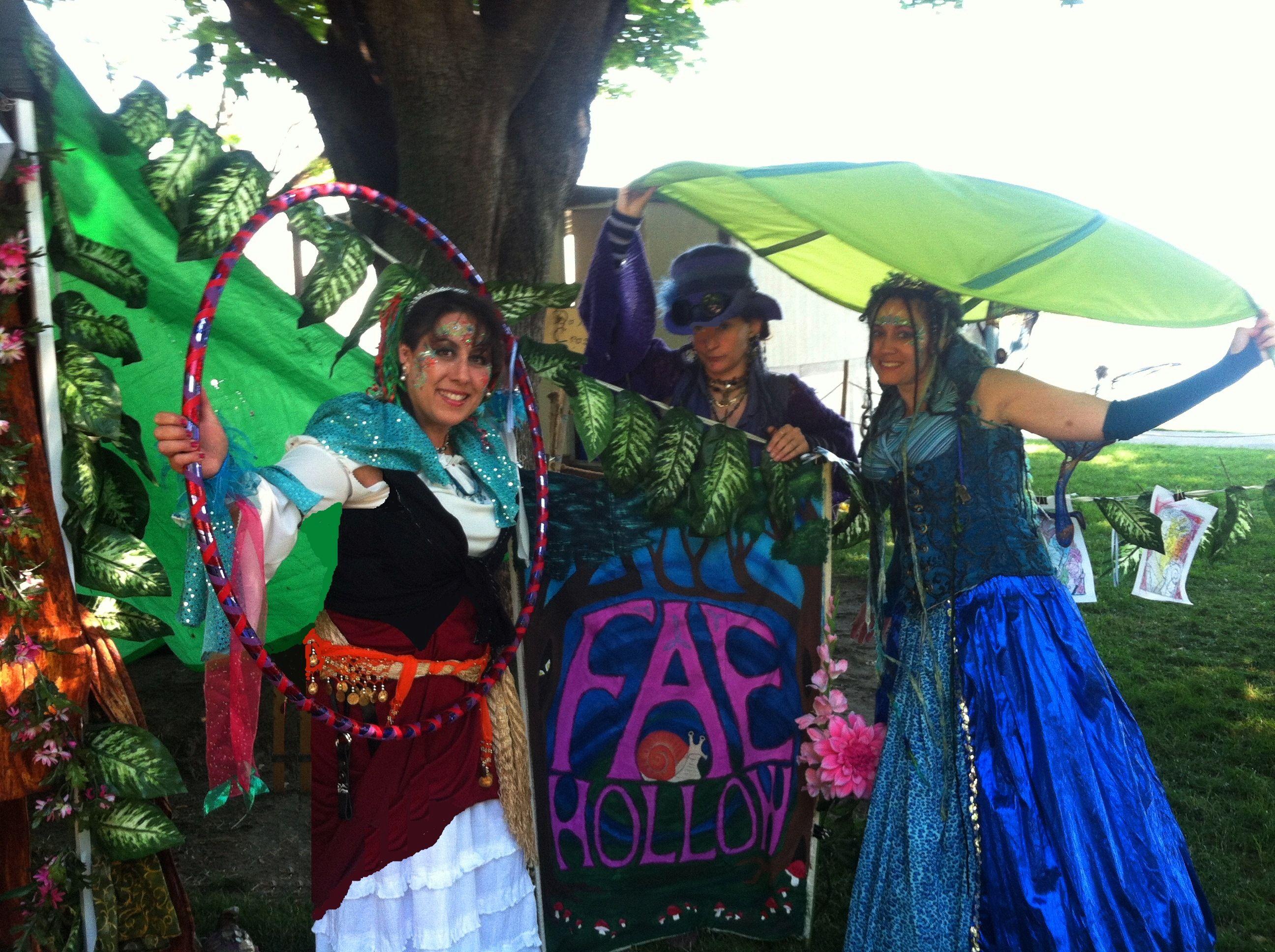 Lady La-de-dah, Breezle, Fairy Princess Lolly with our beautiful #FAE Hollow sign that Breezle painted :)