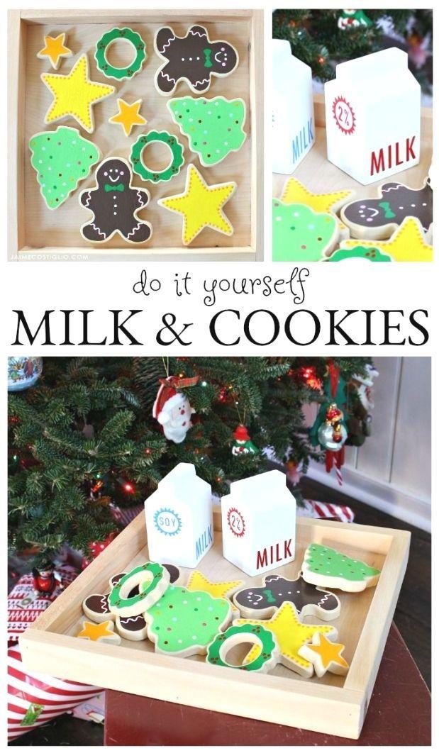 DIY milk and cookies kids play set Make your own play milk and cookies using scrap wood