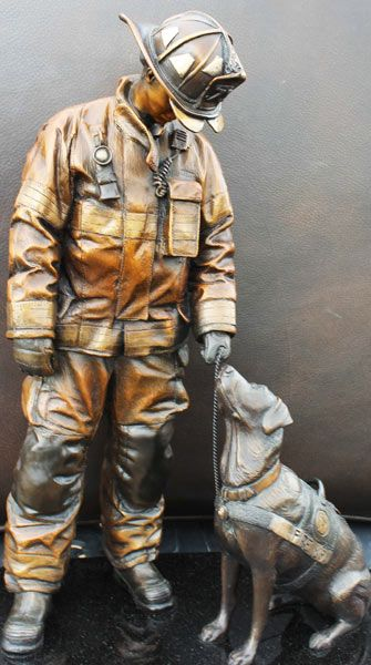 The National Fire Dog Monument will be on display at a Washington, D.C., fire…