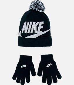 Kids  Nike Swoosh Beanie Hat and Gloves Set  f0a23d9fa186