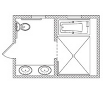 Bathroom Floor Plan Sq Ft W X L Bathroom - Kohler bathroom floor plans