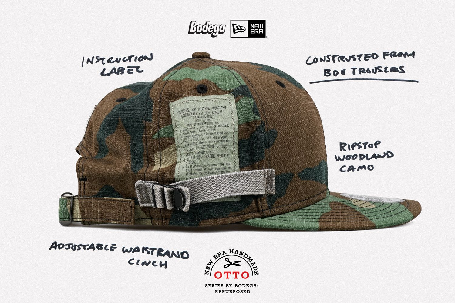 581643a800212 Bodega Teams With Vintage Kingpin Otto for New Era Repurposed Project  Vintage Baseball Caps
