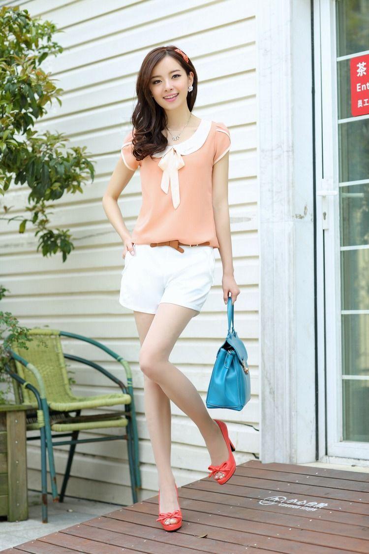 Wholesale Product Snapshot Product name is delgado de gasa cuello peter pan corto- vintage manga blusas casuales& mujeres camisas camisas de más tamaño femininas blusas tops de verano
