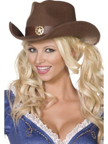 Adult Western Wild West Cowboy Ladies Hat Fancy Dress Costume Party  Accessory (36267)  79ec20467a91