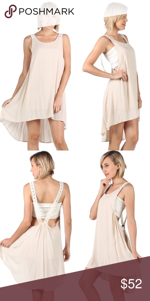 f6c1ebb4654a5 Black Open Back Crochet Detail Gauzey Slip Dress The perfect cute
