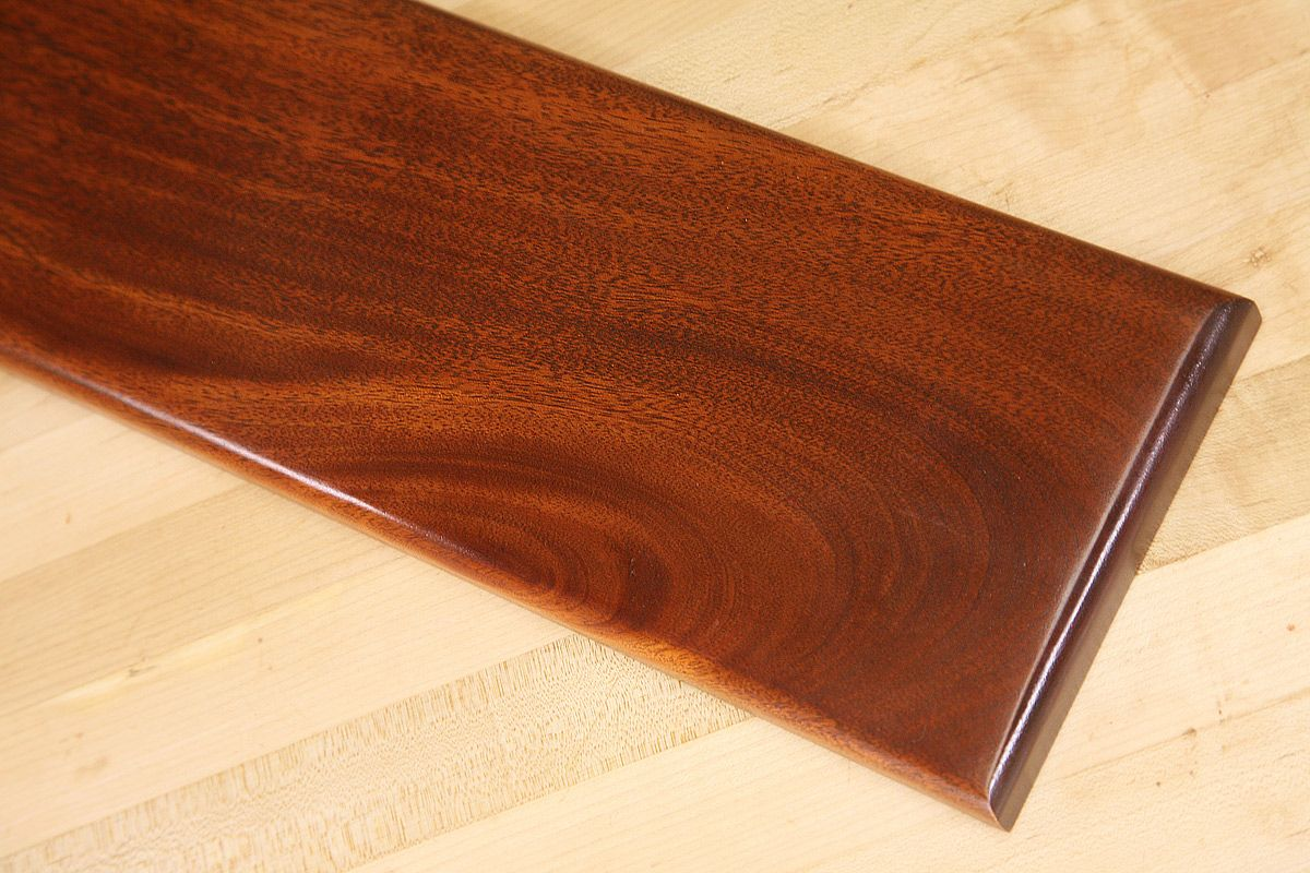 Deep Red Mahogany Finish On Genuine Mahogany Dye Stain Staining Wood Woodworking Finishes Wood