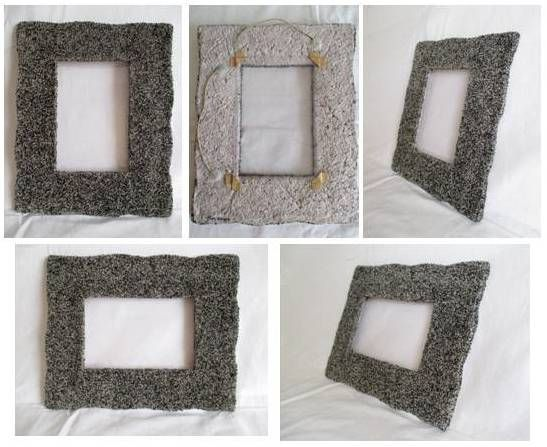 Cornice cartapesta modellata rivestita con granuli neri for Cornici per foto 10x15