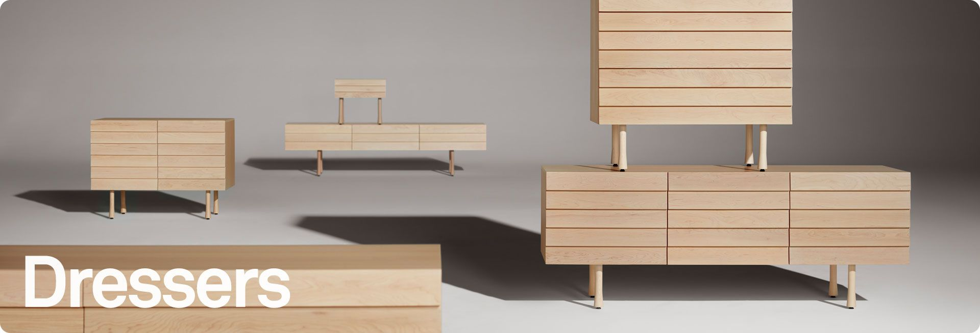 Modern dressers and bedroom storage by blu dot the warehouse
