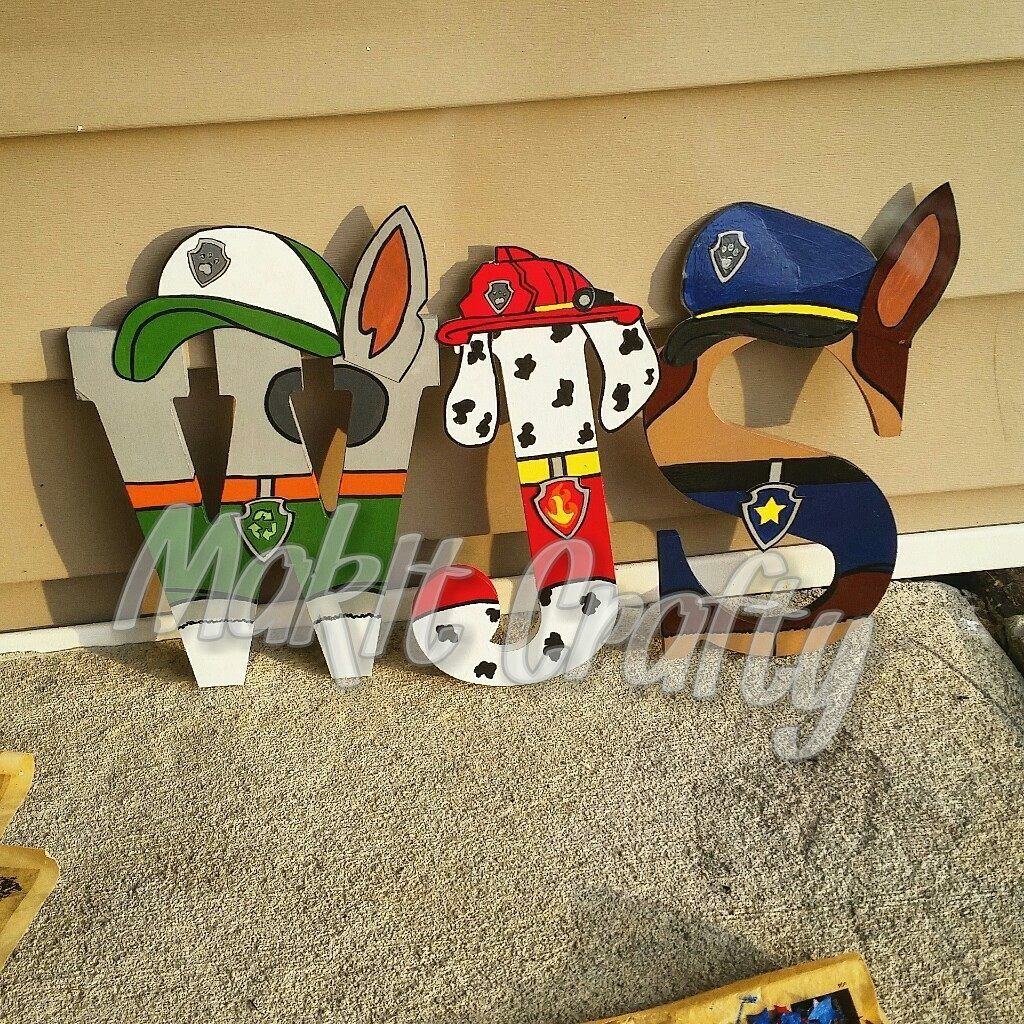 Paw patrol wooden letters Oder yours now  https://www.facebook.com/makitcrafty/
