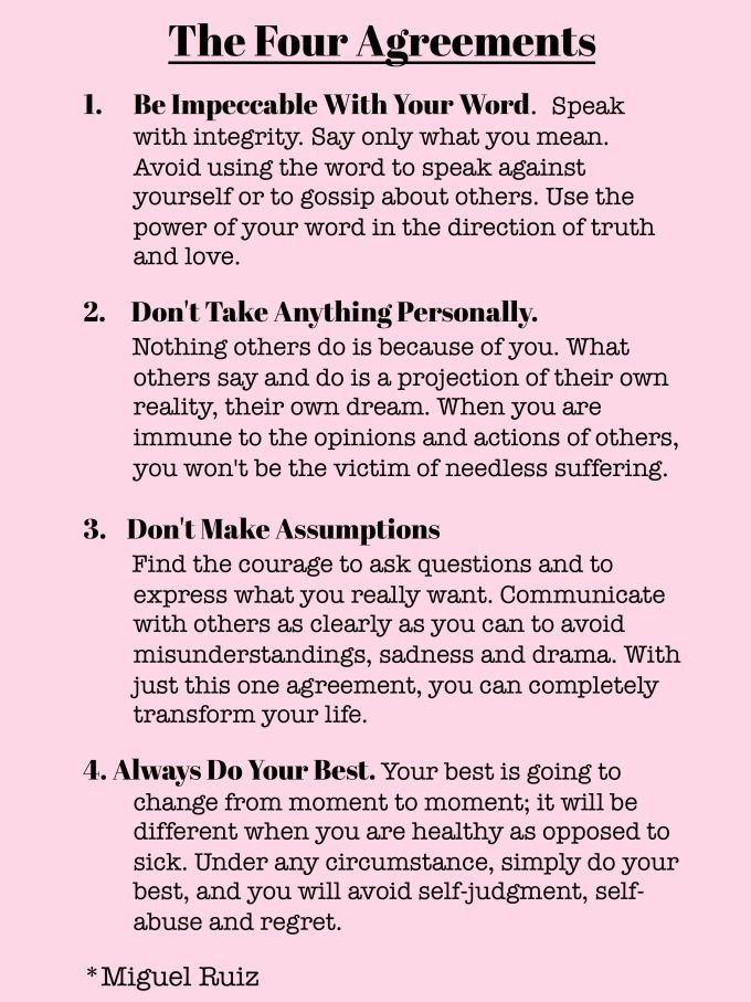 The Four Agreements Quotes Stunning The Four Agreements  Words Of Wisdom  The Tao Of Dana  Self Care . Inspiration Design