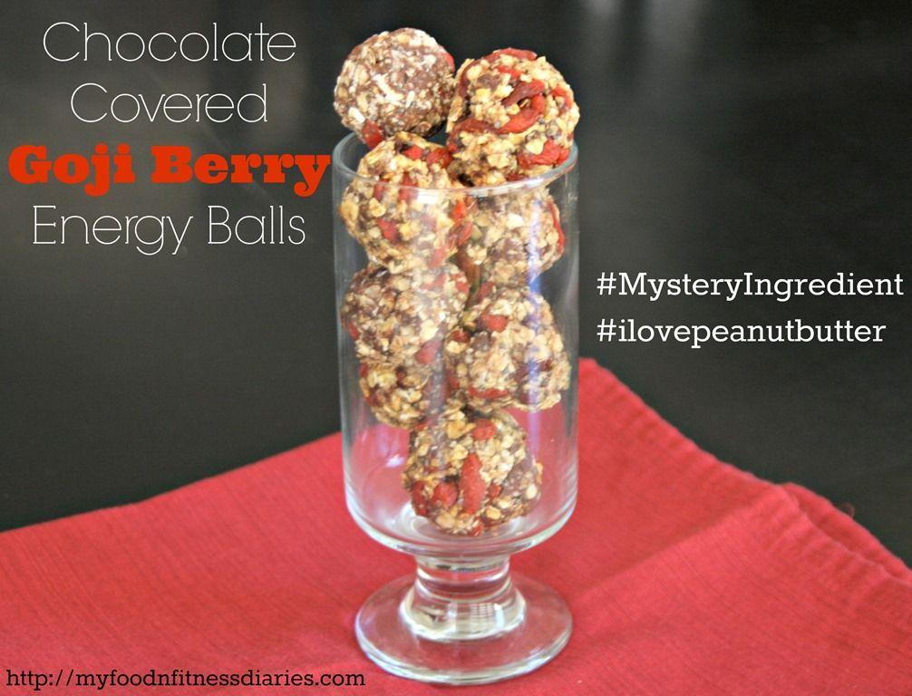 Chocolate Covered Goji Berry Energy Balls