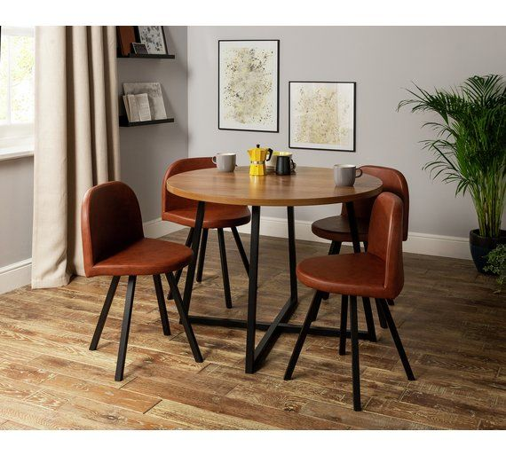 Buy Argos Home Nomad Oak Effect Dining Table & 4 Chairs