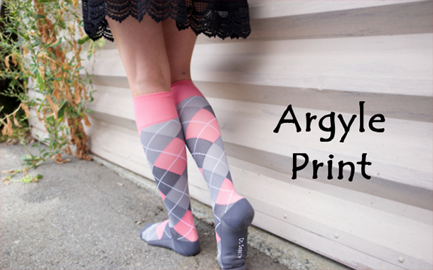 Dr. Segal's Cute Compression Socks - Argyle Print