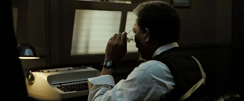 Morgan Film: Morgan Freeman Is Wearing Casio DW-5600 In Se7en