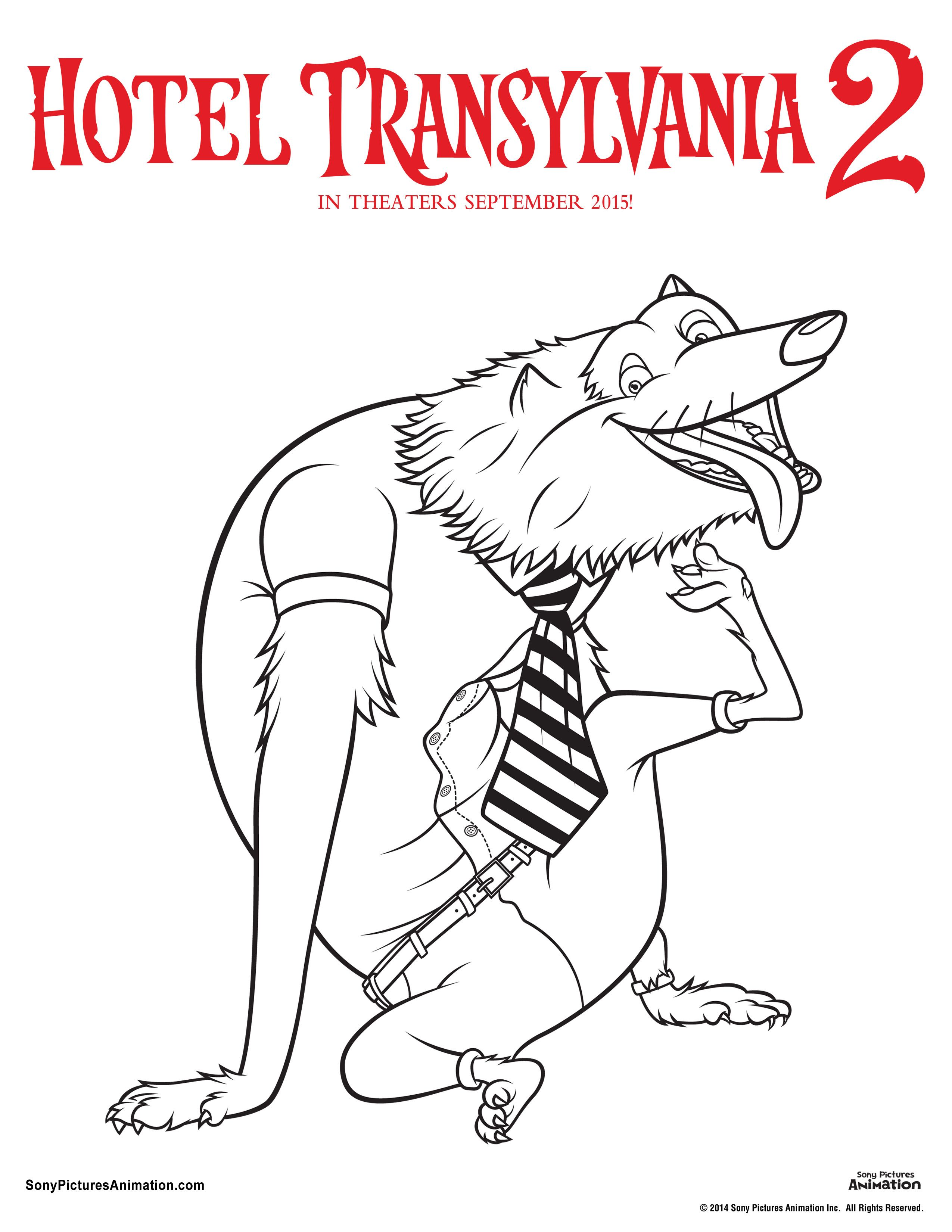 Unearth your inner artist with these Hotel Transylvania 2 coloring ...