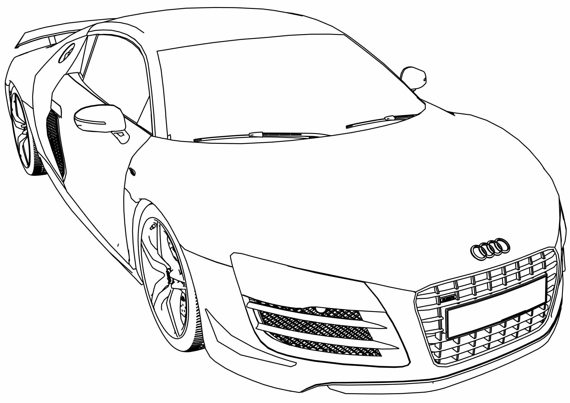 Nice Audi R8 Gt Car Coloring Page Cars Coloring Pages Audi R8 Car Drawings